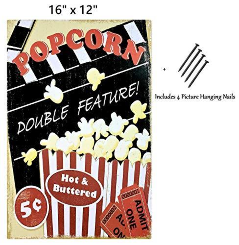 UNiQ Designs Popcorn - Cartel de hojalata de Metal ...