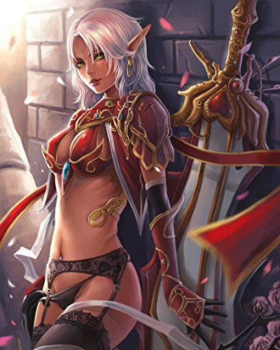 (Superior Posters World of Warcraft Wow Blood Elf Wall Poster 6 Print Art Decoration 16x20 Inches)
