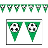 Soccer Ball Pennant Banner Party Accessory (Value 3-Pack)