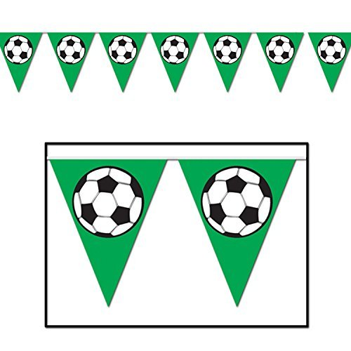 Soccer Ball Pennant Banner Party Accessory (Value 3-Pack) by Beistle