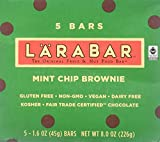 Cheap LARABAR Mint Chip Brownie, Fruit & Nut Food Bar, 5 Count – 1.6 Ounce Bars in Retail Packaging: Gluten Free, Non-GMO, Vegan, Dairy Free, Kosher, Fair Trade Certified Chocolate