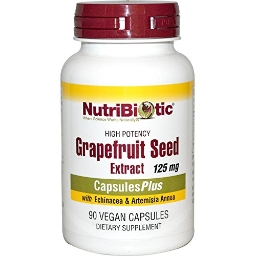 NutriBiotic, Grapefruit Seed Extract, With Echinacea & Artemisia Annua, 125 mg, 90 Veggie Caps - 2pc