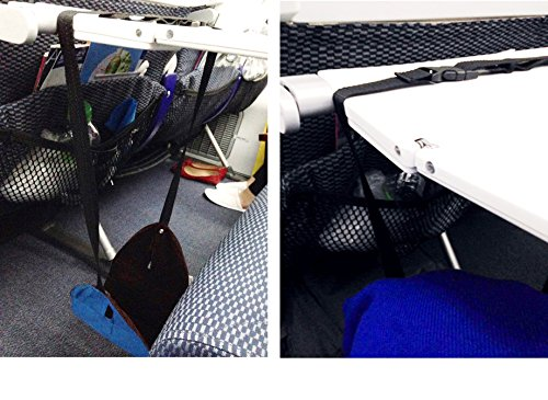 SmartTravel Portable Travel Footrest for Airplane (Blue)
