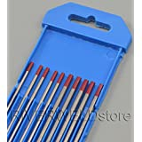 """2% Thoriated WT20 Red TIG Tungsten Electrode 6"""" Assorted Size 3/32"""" & 1/8"""",10pk"""