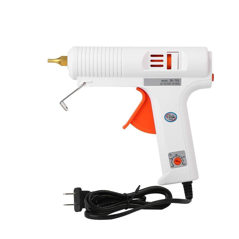 Asixx Hot Glue Gun, 110W Professional Hot Melt Glue Gun Adjustable Constant Temperature Hot Melt Gun Craft Repair Tool (US Plug)