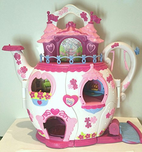 My Little Pony Ponyville Teapot Palace House Playset (Lights & Sound) with Two Ponies
