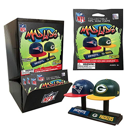 a4b8db01b10d9 Party Animal Mad Lids - NFL Series 1 - Box (24 Blind Packs)