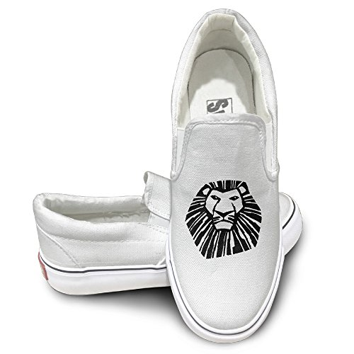 MGTER66 Lion King Broadway Fashion Slip On Shoes Unisex Style Color White Size 35 (Mens Kors Michael Sneakers)