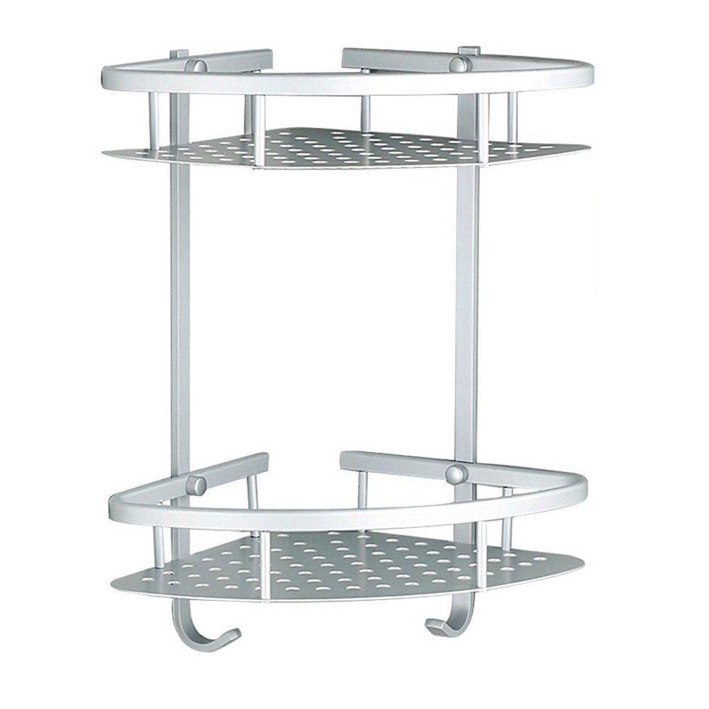 Sendida Bathroom Corner Shelf Rack No Drilling Diy Super Strong Saver Switch Wiring Diagram Glue Adhering Sd173 Heavy Duty And Rustproof Aluminum 2 Tiers Shower Storage