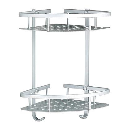 Sendida Bathroom Corner Shelf Rack - No Drilling, DIY, Super Strong ...