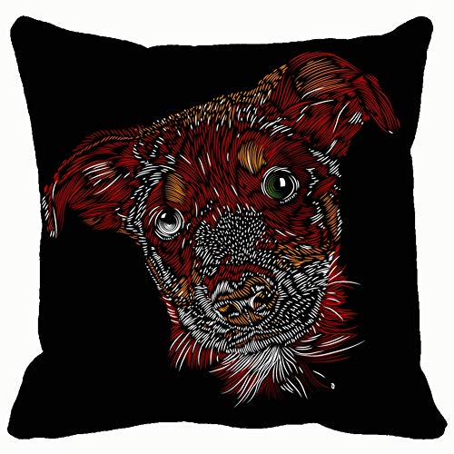 Throw Pillow Cushion Cover, Cute Tender Dog Animals