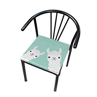 Bardic FICOO Home Patio Chair Cushion Cute Animal Alpaca Square Cushion Non-Slip Memory Foam Outdoor Seat Cushion, 16x16 Inch: Home & Kitchen