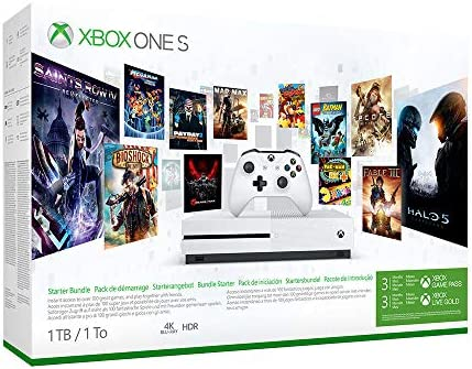Microsoft Bundle Xbox One S (1TB) Starter Pack Blanco 1000 GB Wifi - Videoconsolas (Xbox One S, Blanco, 8192 MB, DDR3, AMD Jaguar, AMD Radeon): Amazon.es: Videojuegos