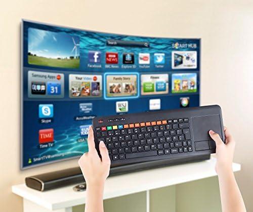 GeneralKeys TV Clavier sans fil avec pavé tactile pour Smart TV Samsung etc.