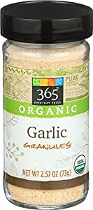 365 Everyday Value, Organic Garlic Granules, 2.57 oz