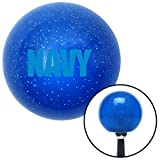 navy blue shift knob - American Shifter 25977 Blue Metal Flake Shift Knob (Blue NAVY Logo)