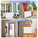 Retractable Baby Gate, OTTOLIVES Mesh Safety Gate