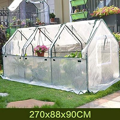 TWS Aislamiento al Aire Libre del jardín del Invernadero Que Cubre la Lluvia PE 270 * 88 * 90CM: Amazon.es: Hogar