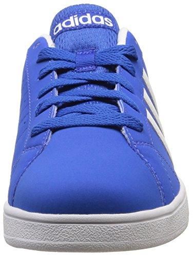 Neuf Pour Garçons/Pour Enfants Bleu/Blanc Adidas 3 Stripe Baskets À Lacets - bleu/blanc/blanc - TAILLES UK 3-5.5