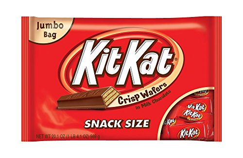 Kit Kat Snack Size Candy Bars, Crisp Wafers In Milk Chocolate, 20.1 Ounce Jumbo Bag