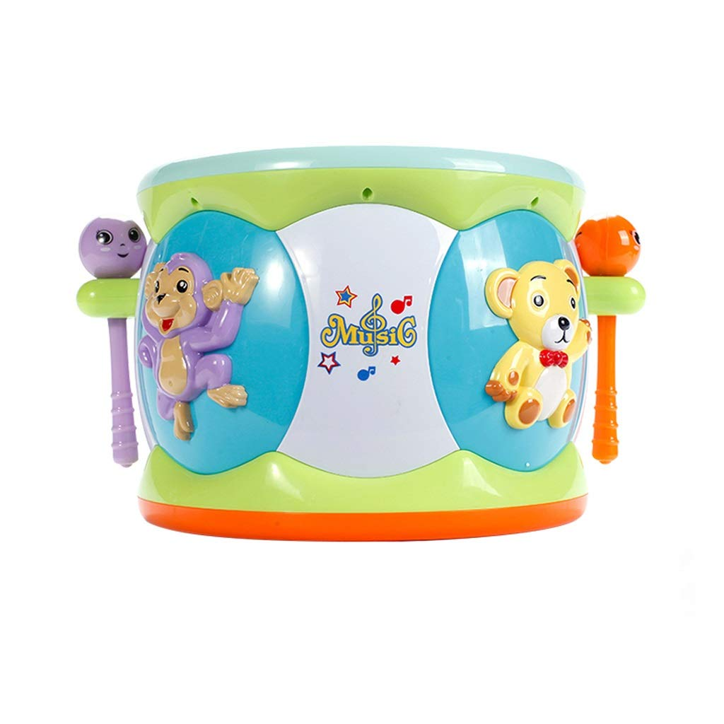 LIPENG-TOY Baby Hand Drums Children Pat Drum Karaoke Baby Early Education Puzzle Charging 1-3 Years Old Smart Music Toys (Color : Green)
