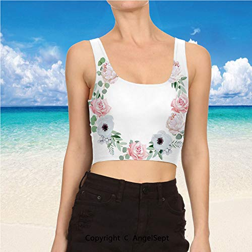 (Casual Tank Tops,Sexy Tops Women Summer S,Almond Green Light Pink White Delica)