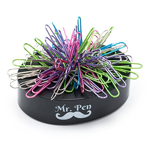 Mr Pen- Desk Toys, Magnetic Desk Toy, Paperweight, Cool Gifts, Stress Relief Toys, Desk Toy with 100 Paper Clips, Paper Clips Holder, Desk Top Toys, Desk Toys for Adults, Paper Clips Assorted Colors Magnetic Paper Clip