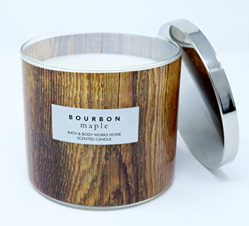 - Bath & Body Works Bourbon Maple Scented Candle 3 Wick 14.5 Ounce