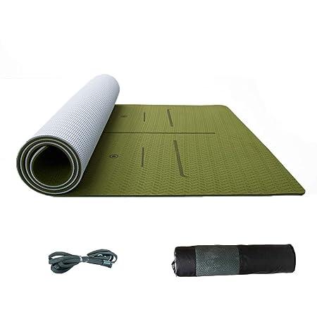 SHLYXY Estera de la Aptitud Yoga Mat Espuma Ripstop Correa Y ...