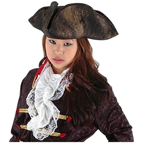 [Scallywag Black Pirate Hat Costume Accessory] (Scallywag Pirate Costume)