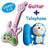 Naksh Toys & Gift Musical Telephone and Guitar Toy for Kids Multicolor (Pack of 2)