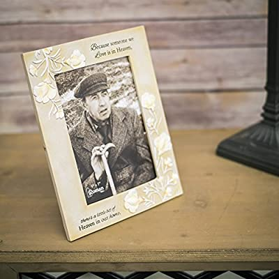 Someone We Love In Heaven 9.5 x 7 Embossed Resin Stone Table Top Photo Frame