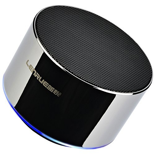 Lenrue Portable Bluetooth Speaker-Mini Wireless Outdoor Rechargeable Speakers with LED,Built-in-Mic,Handsfree Call,AUX Line,TF Card,HD Stereo Sound and Bass for iPhone Ipad Android Phone
