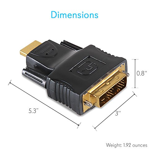 Pyle home phmidm hdmi male to dvi male adapter