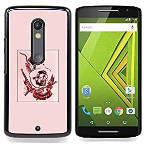 - Red Pink Top Hat Revolver President - - Snap-On Rugged Hard Cover Case Funny HouseFOR Motorola Verizon DROID MAXX 2 / Moto X Play