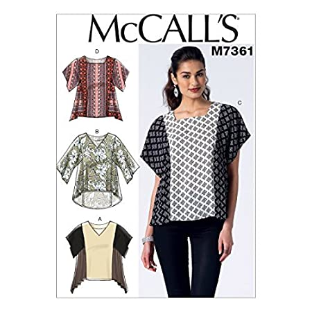ebf1a0c03c2d3 McCall s Patterns M7361 Misses  Square or V-Neck Pullover Tops