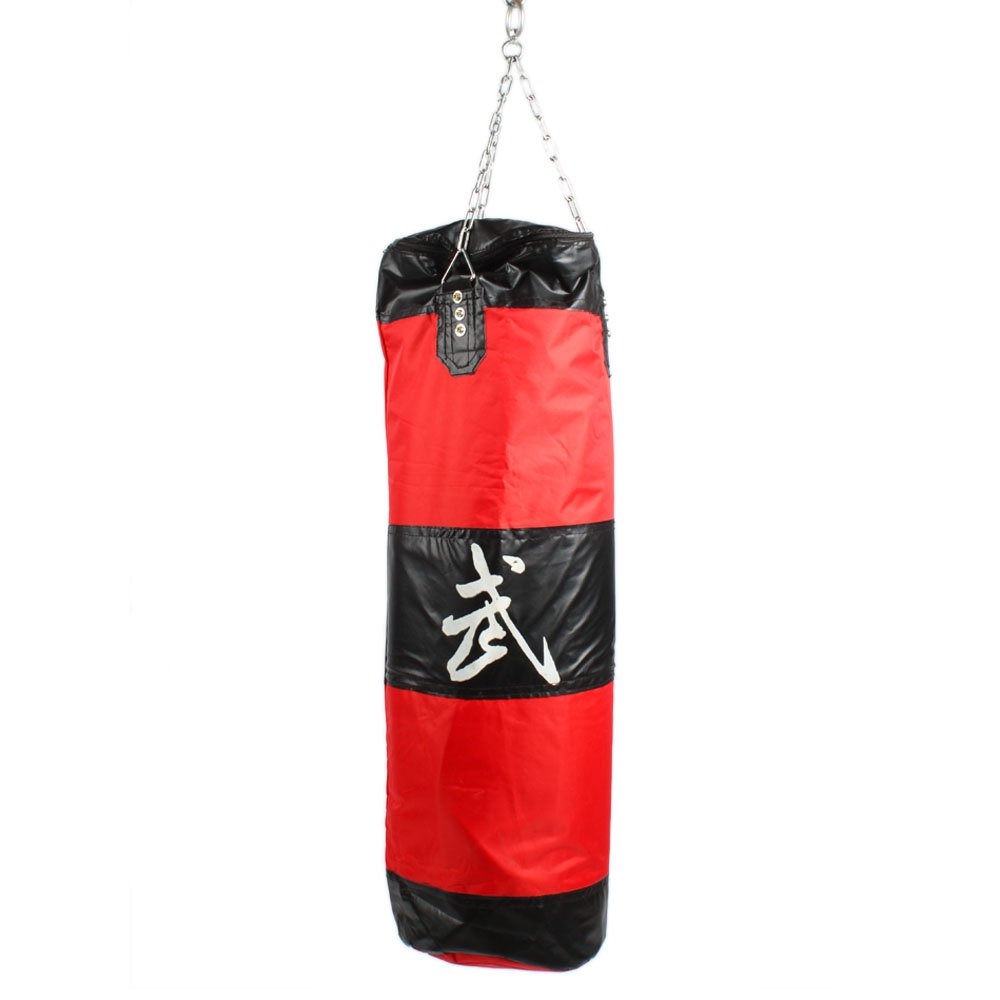NewMultis Boxing Sanda Bag Hanging Hollow Punching Bag Red and Black by NewMultis