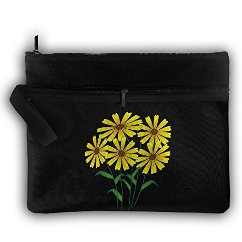 Sunflowers Multifunction Storage Bag Buggy Bag Travel Cosmetic Bags Double Zipper Small Makeup Clutch Pouch Cosmetic And Toiletries Organizer Bag ()