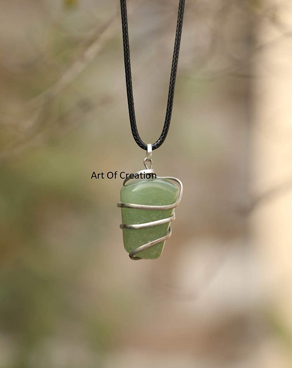 Wire Wrapped Pendant OOAK Earth Friendly Natural Healing Eco Fashion Gift Small Confidence Amulet