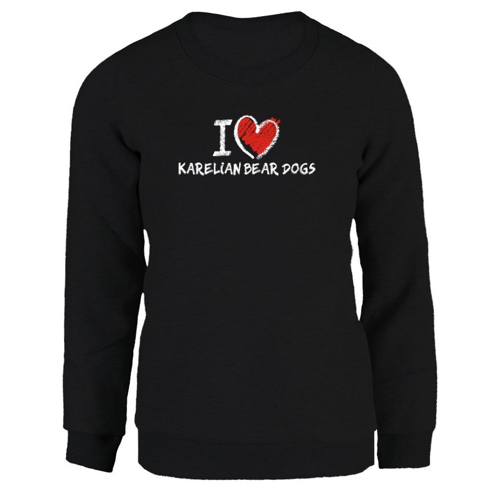 Idakoos I love Karelian Bear Dogs chalk style - Dogs - Women Sweatshirt IDKSD6A557430003107207