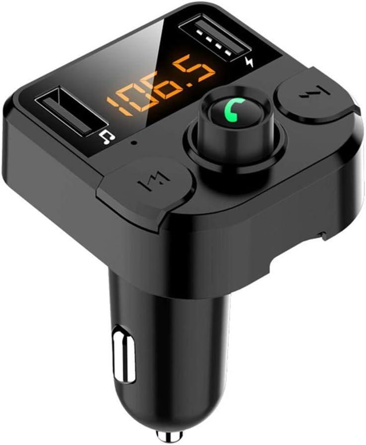 OIYINM77 Coche Bluetooth inalámbrico 3.1A Cargador USB Reproductor de MP3 Manos Libres Transmisor FM Bases de Carga