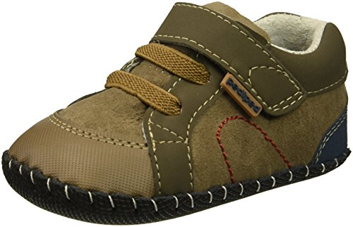 Pediped Infant Shoes - pediped Boys' Dani Crib Shoe, Earth, 18-24 Months Child EU Infant (18-24 Months US)