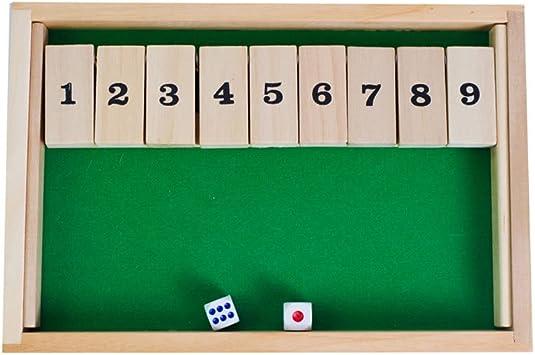 YTCDX Madera 9 Número Cierre la Caja Juego de Mesa de Dados ...