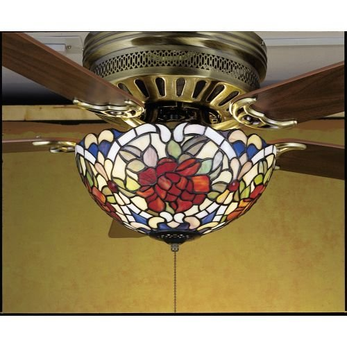 Meyda Tiffany Renaissance Tiffany Style Rose Fan Light Fixture