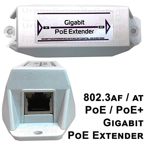 USG Gigabit Ethernet & Power Over Ethernet Signal Extender Booster : PoE+ 25W, No External Power Supply Required, RJ45 Jacks, Extend PoE & Network Ethernet Signal 300ft, Business Grade by Urban Security Group (Image #5)