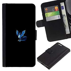 All Phone Most Case / Oferta Especial Cáscara Funda de cuero Monedero Cubierta de proteccion Caso / Wallet Case for Apple Iphone 6 PLUS 5.5 // Poke Monster Blue Phoenix