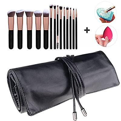 low-cost Makeup Brush Rolling Case Pouch Holder Cosmetic Bag Organizer  Travel Portable 18 Pockets 22387bb1e8838