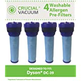 4 Washable & Reusable Pre-Motor HEPA Filters for Dyson DC39 Vacuums; Compare to Dyson Part Nos. 923413-01; Designed & Engineered by Think Crucial