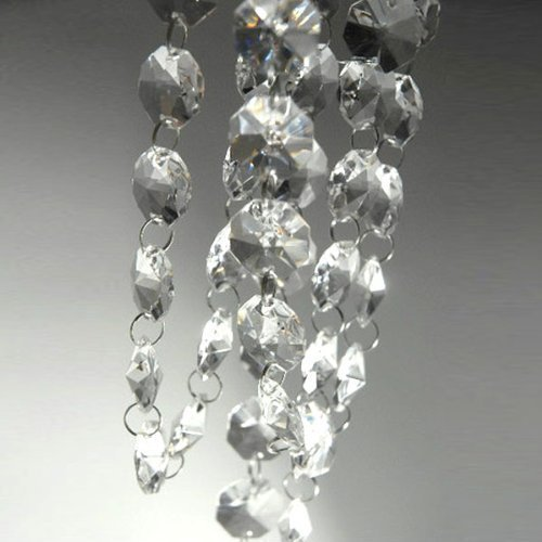 VStoy 6ft Clear Crystal Glass Chandelier (Necklaces Chandelier Chain Necklace)