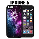 iPhone Case Cracked Screen Prank for iPhone 6 Plastic Black (Ships from CA)
